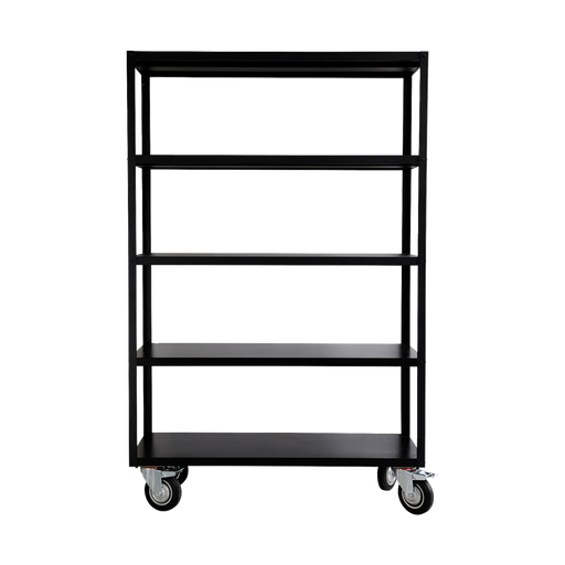 Shelving unit CASTOR WHEELS TROLLEY Matte black - Tea and Kate