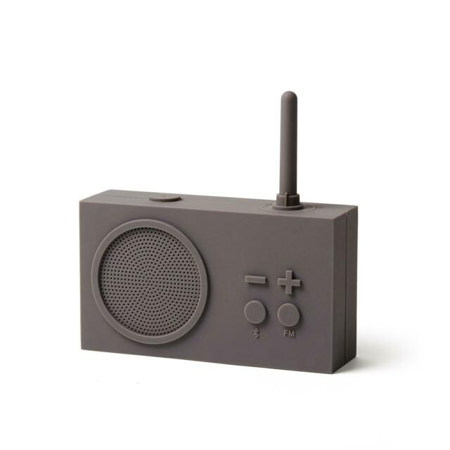 TYKHO 3 FM Radio + Bluetooth Speaker TAUPE GREY