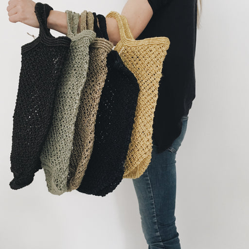 Jute Macrame Shopping Bags - Tea and Kate