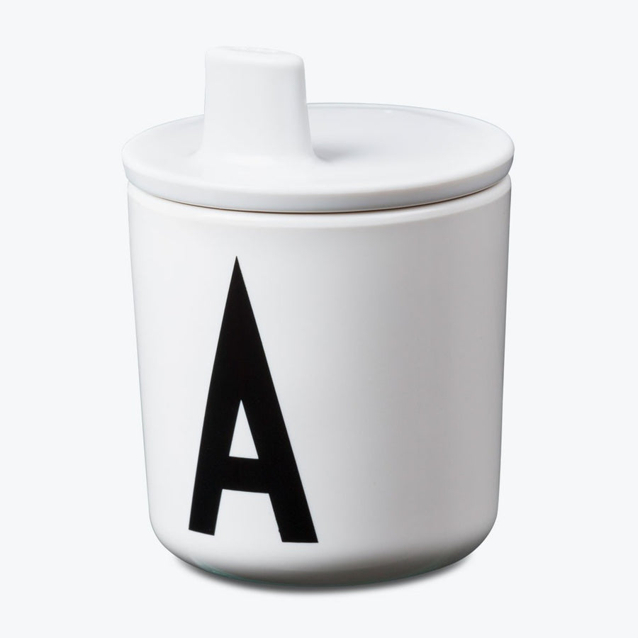 Design Letters by Arne Jacobsen white drink lid