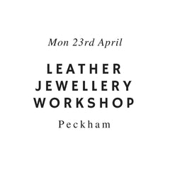 Leather Jewellery Workshops in Peckham with London Craft Club