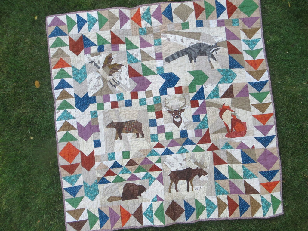 A canadian wildlife inspired quilt by quilt expert chris webb you can learn to create projects just as beautiful as this one at a london craft club workshop