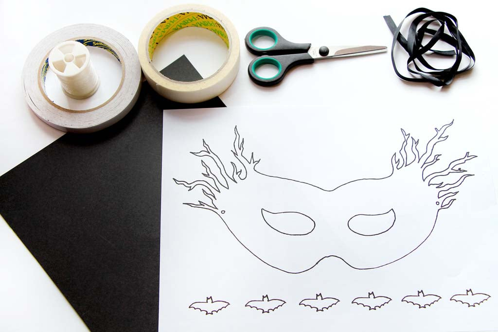 Halloween spooky mask - download the free printable today