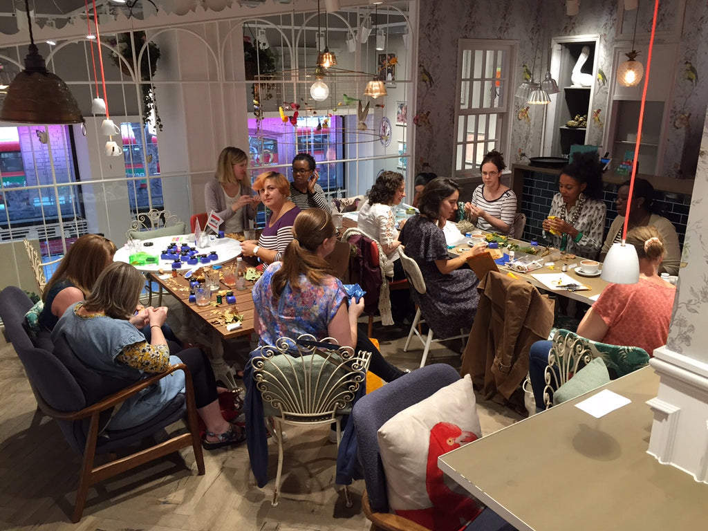 London Craft Club free social crafternoons are a great way to meet crafty friends and have fun over craft and coffee