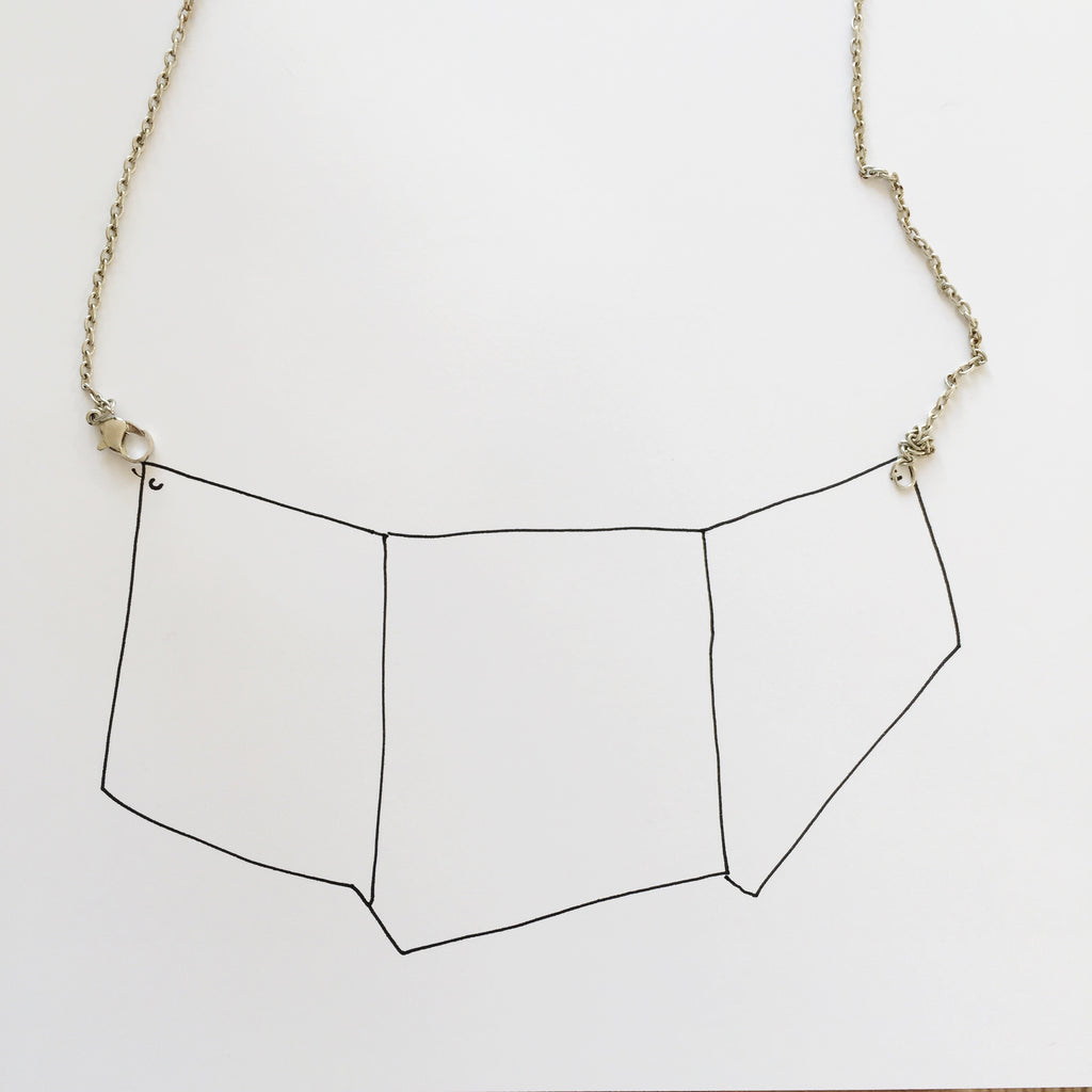 Metallic pleather or leather necklace DIY by London Craft Club's Sonia Bownes