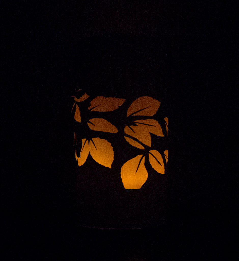 Download this free autumn (fall) leaves lantern printable by Utensils0. It's the perfect quick DIY craft to decorate your hall or home whether it's for Halloween or just the longer evenings. It's a quick craft that anyone can do