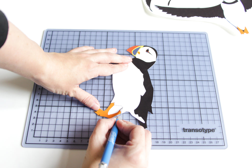 Puffin printable for London Craft Club by Utensils0