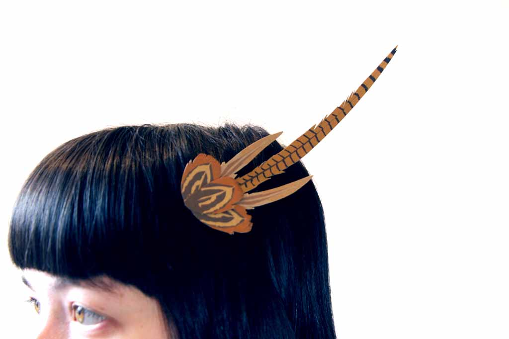 Free download - beautiful printable headpiece of pheasant feathers from Untensils0