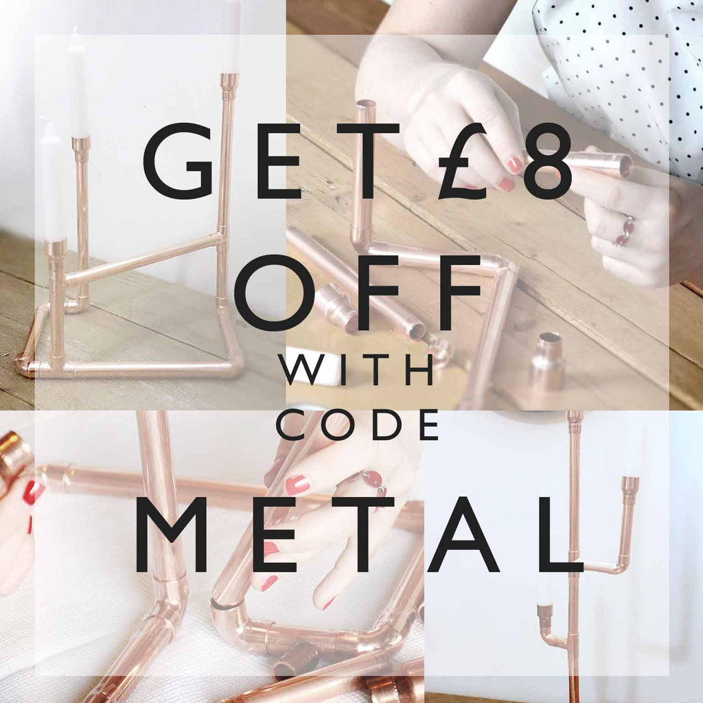 Get £8 of our metal work session with code METAL