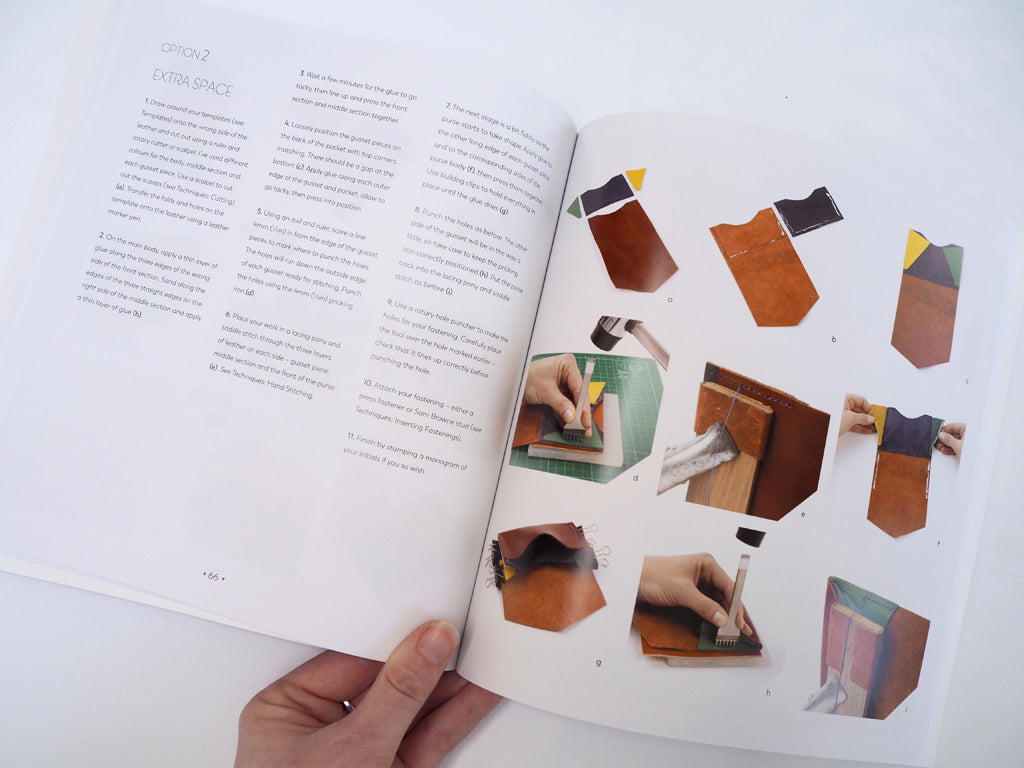 Rosanna has detailed step by step instructions for each project, made even clearer by photos illustrating each stage, meaning the projects are easy to follow even if you're not a very confident crafter. Although working with leather looks really complicated, with Rosanna's expert guidance you'll be creating beautiful leather items in no time.