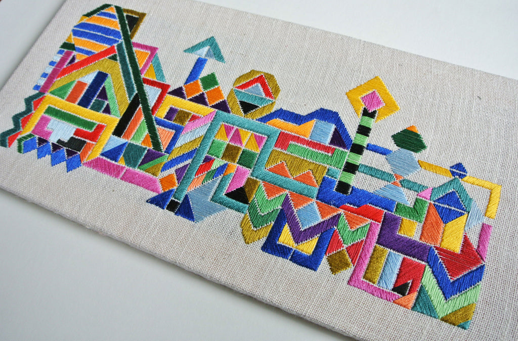Live a creative life and learn to craft beautiful geometric embroidery