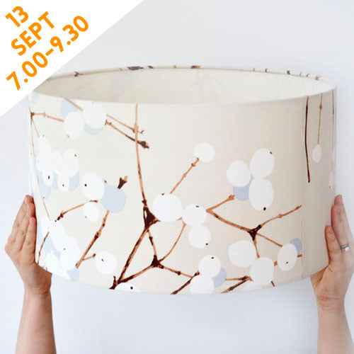 Make a really big 40cm drum lampshade using our brilliant selection of prints. A large lampshade can really finish a room off