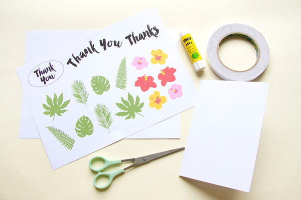Printable for thank you card from Utensils0