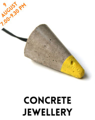 Learn how to cast your own concrete jewellery and make a pendant with London Craft Club and Rhiannon Palmer