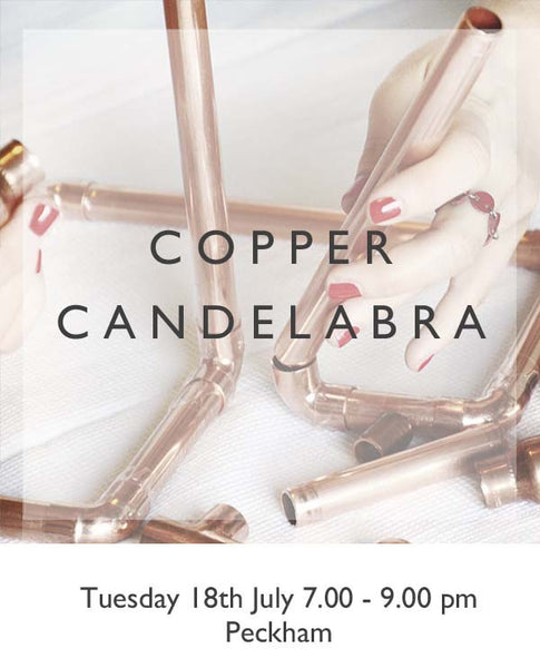 Copper Candelabra with Melodie