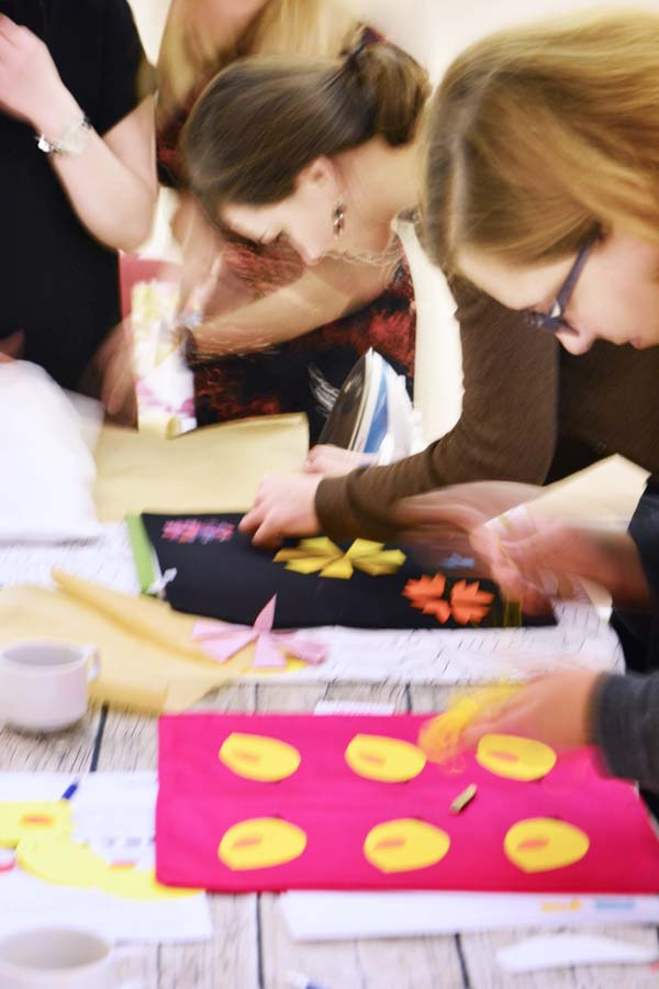 Craft workshops are a great way to relax and meditate