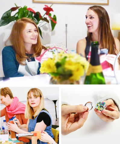 London Craft Club crafting together