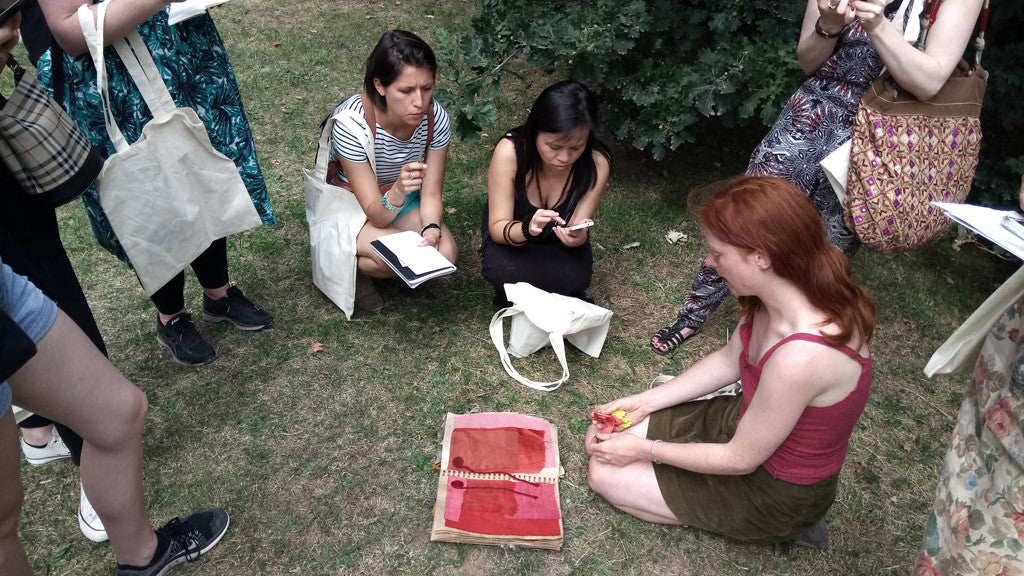 London Craft Club's wild colour Summer where you can learn how to use plants to dye fabric