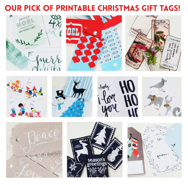 our pick of the Christmas gift tag printables