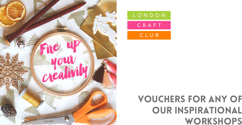 London Craft Club vouchers mean you can give the gift of a creative, inspirational craft workshop!