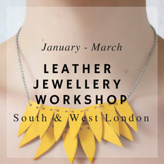 Leather jewellery craft workshops at Blabar Putney