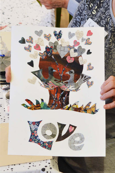 Gabriela Szulman Jewish Museum collage workshop Designs on Britain