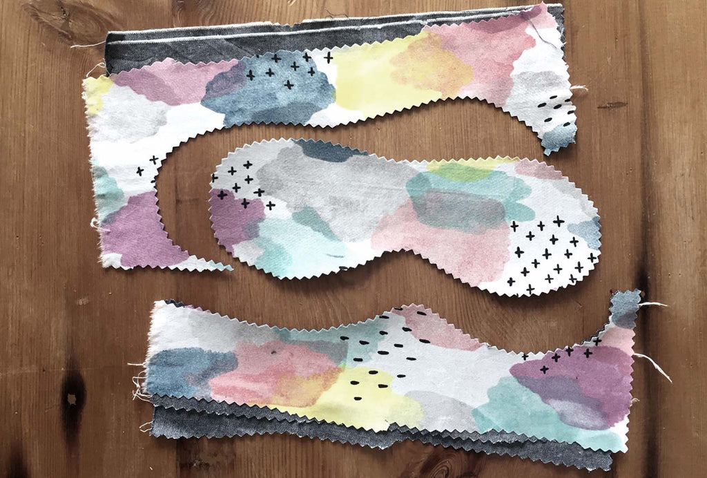 London Craft Club no-sew eye mask free tutorial