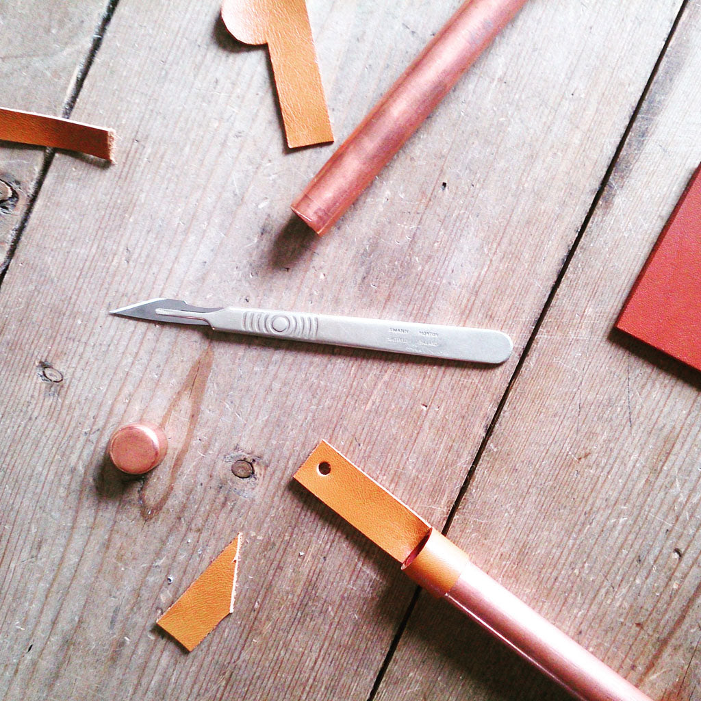 Use creativity and craft using leather and copper to learn new skills