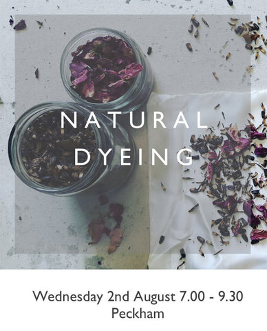 Learn to use plants to dye silk