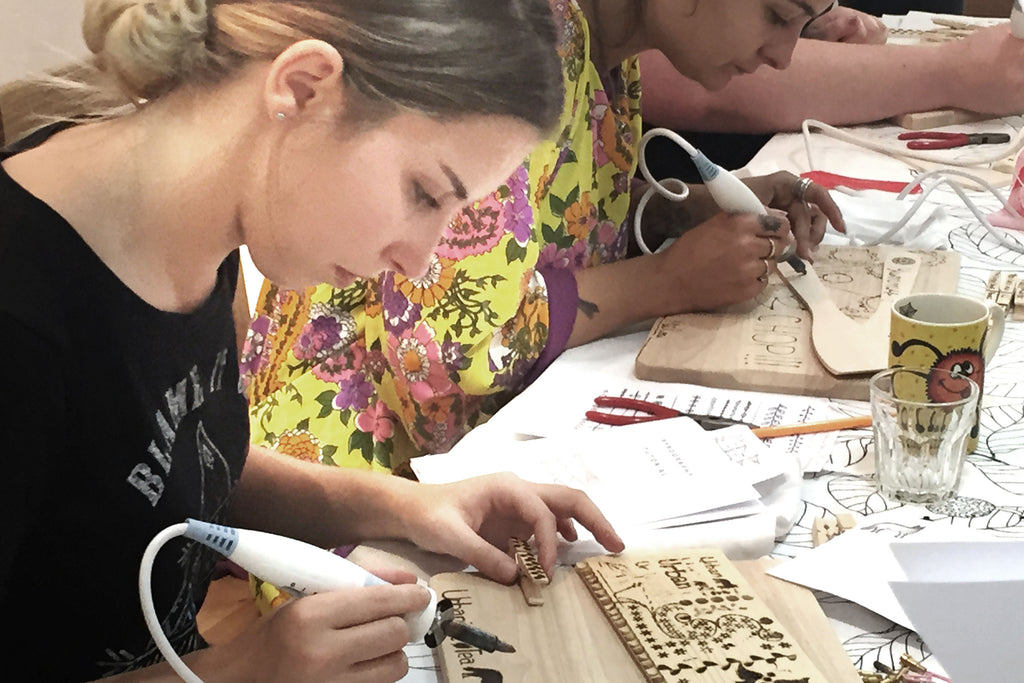 Mindful Pyrography craft workshops allow you to become immersed in creating and making