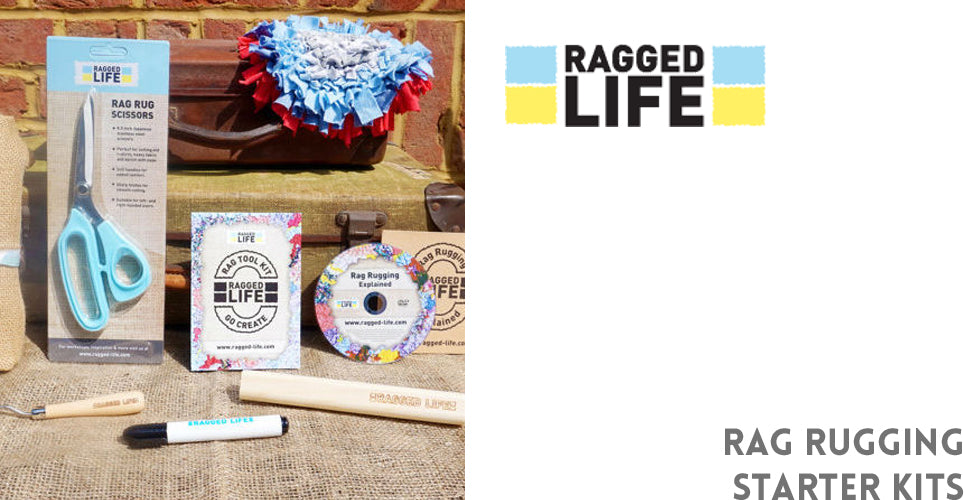 Get the perfect crafty starter kits with Ragged Life;s Rag Rug Starter kits and give the gift of making