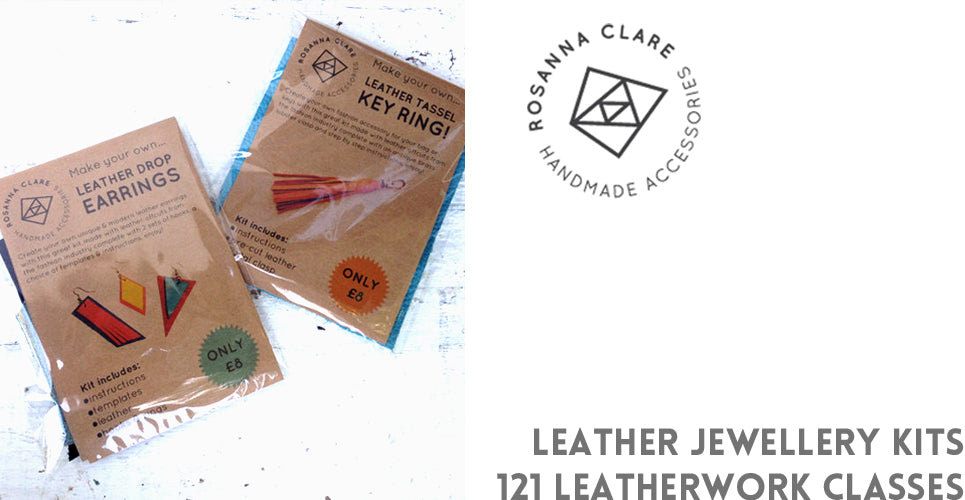 You can give the gift of making with leather jewellery kits from Rosanna Clare Accessories