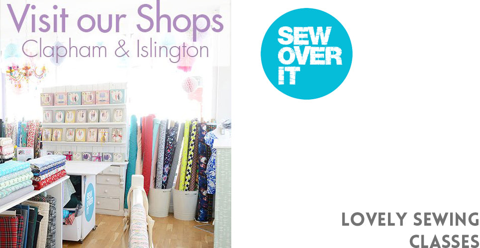 Sewing classes with Sew Over It for beginners and intermediate level sewists make the perfect Crafty gift at Christmas