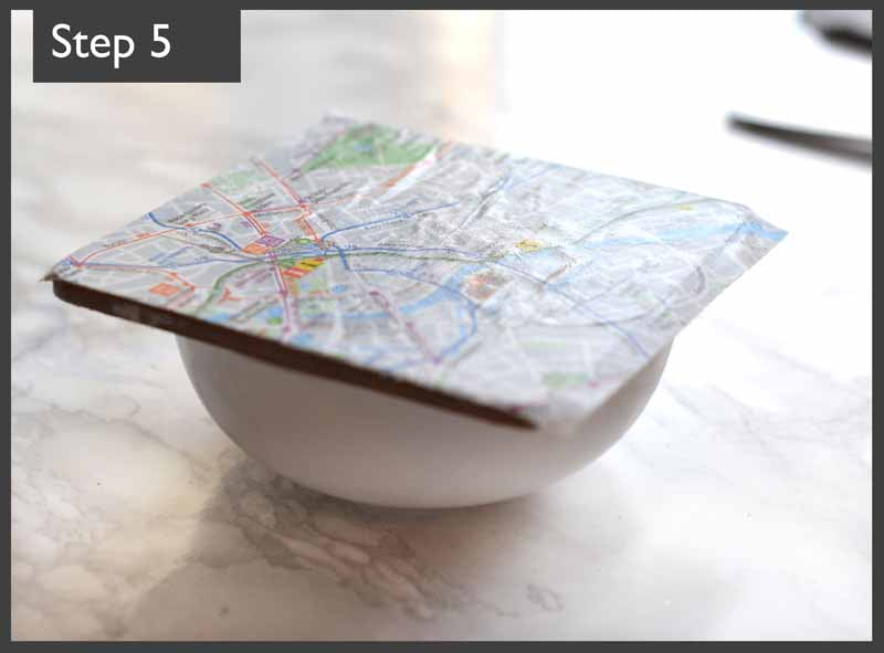 London Craft Club road tests Pinterest's map coaster decoupage crafty project