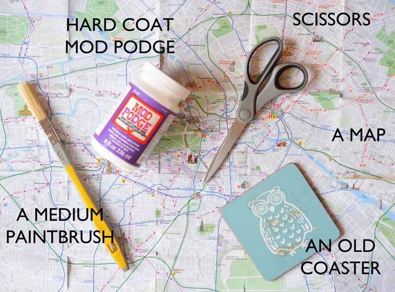 London Craft Club tests out crafty projects from Pinterest like map coasters