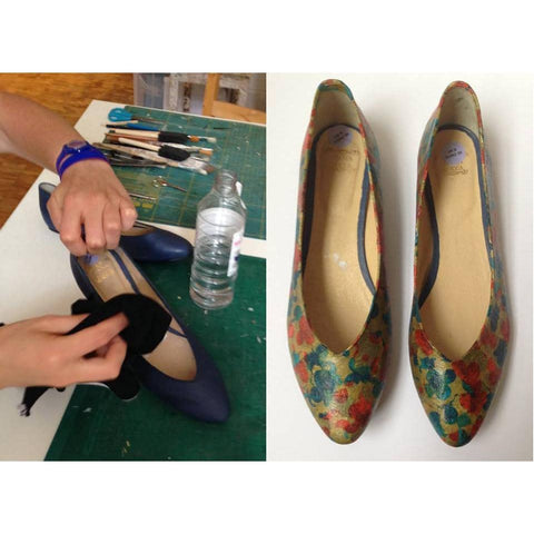 Decoupage on to Shoes