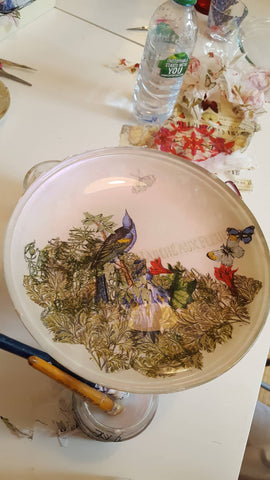 Decoupage onto Glass