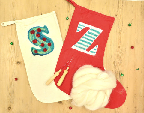 Needle Felt the Perfect Christmas Stocking