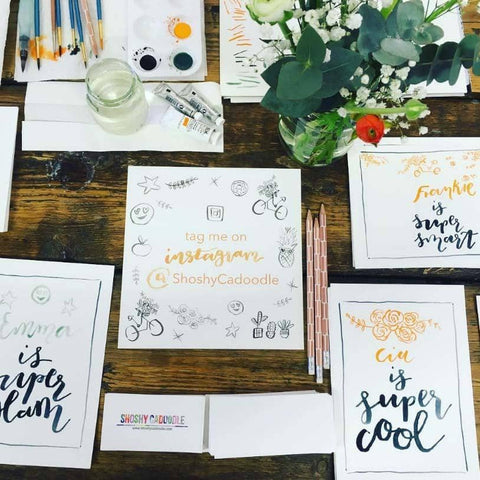 Master Brush Lettering and Make Lettered Lanterns