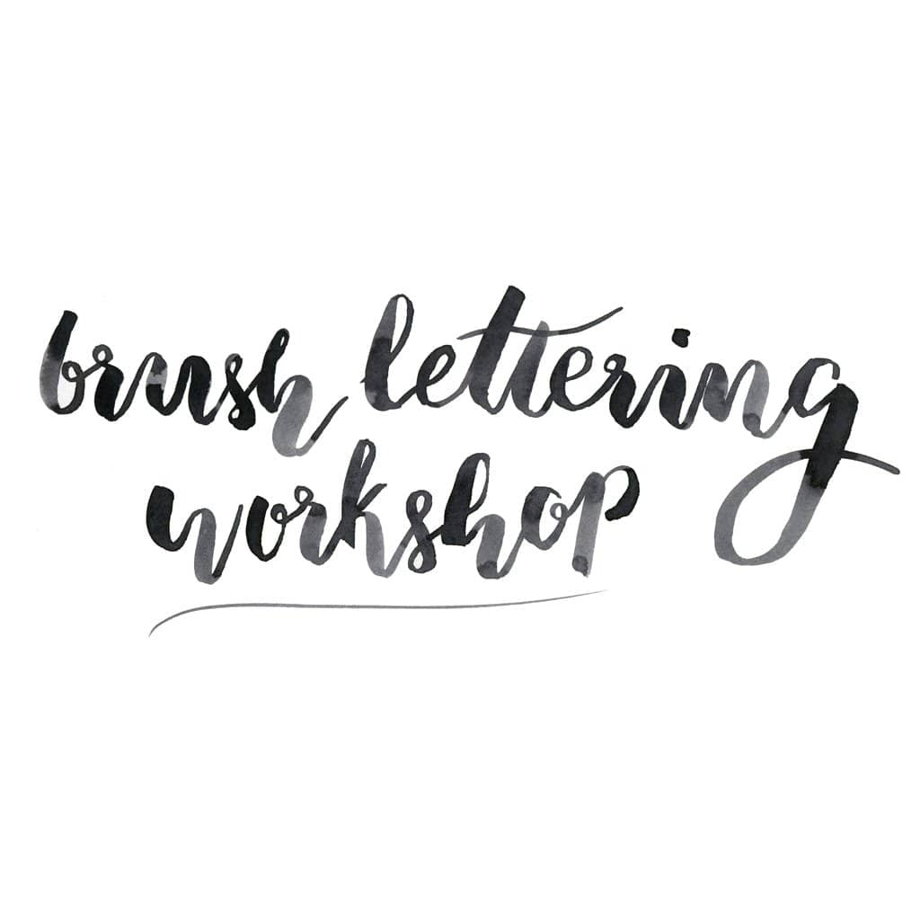 Brush Lettering And Exhibition Tour London Craft Club