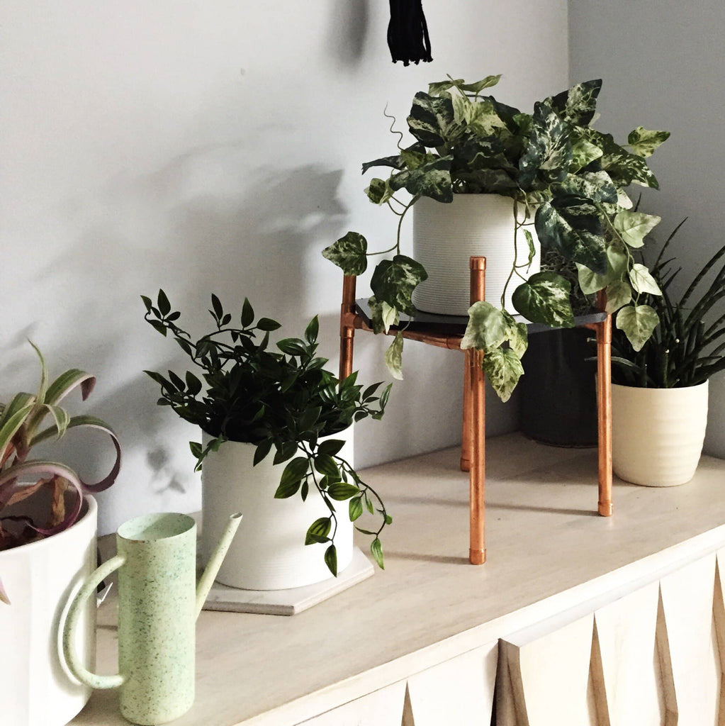 hand make a copper and marble plant stand london craft club. Black Bedroom Furniture Sets. Home Design Ideas