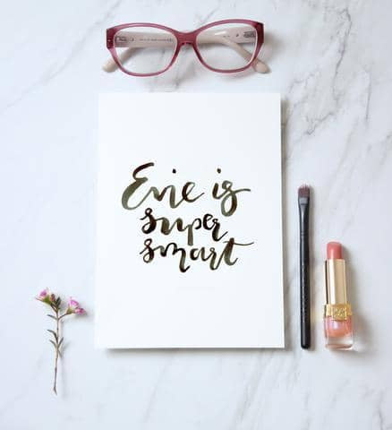 Master Brush Lettering and Create your own Framed Quote
