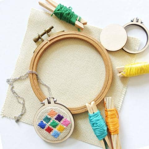 Make Your Own Needlepoint Necklace