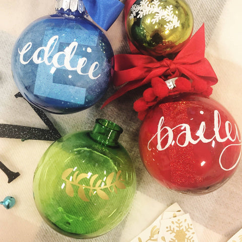 Hand Lettered Christmas Bauble Workshop