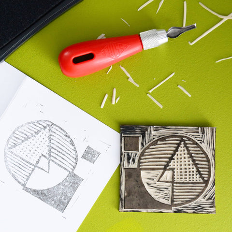 Anyone can Stamp with Easy-Cut Lino