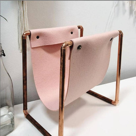 Hand Make a Gorgeous Copper Magazine Rack
