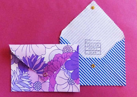 Pair of fabric envelopes for gifts and invites