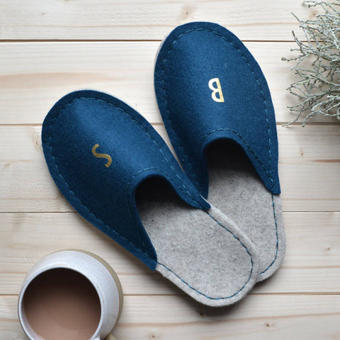 Make A Pair of  Luxury Merino Felt Slippers