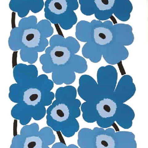 blue flower print for Big lampshade made in creative and crafty workshop