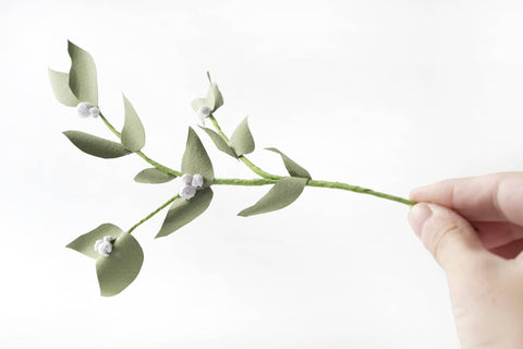 Botanical Paperart Workshop - Mistletoe